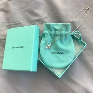 Tiffany & Co. Sterling Silver Cross Necklace